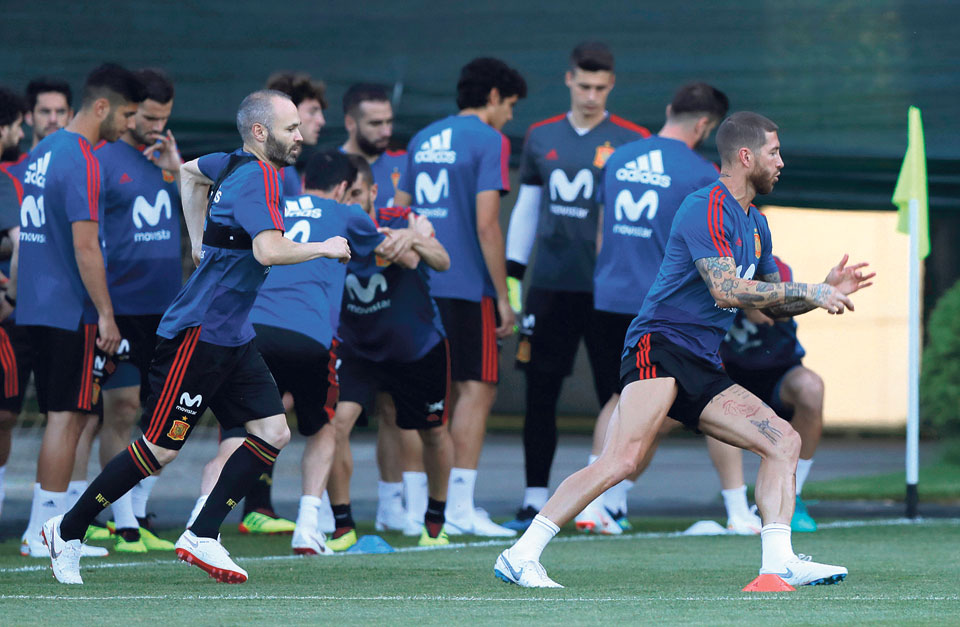 Troubled Spain meets rival Portugal and Ronaldo at World Cup