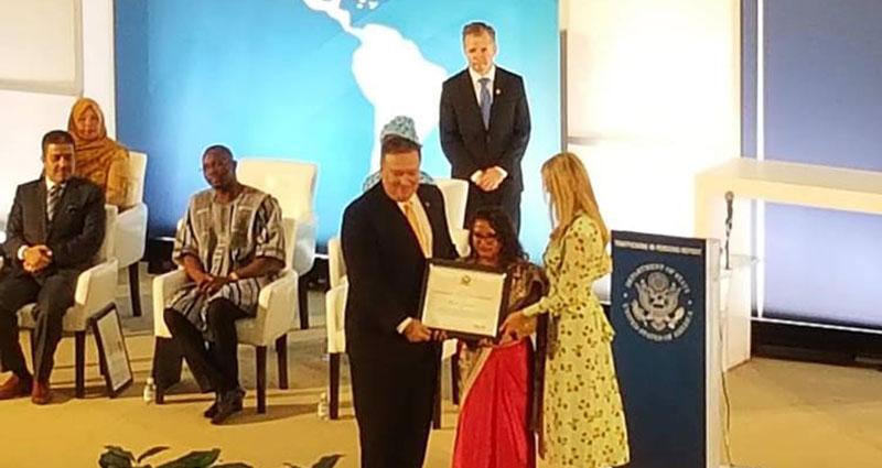 Sunita Danuwar awarded by the US State Department Award