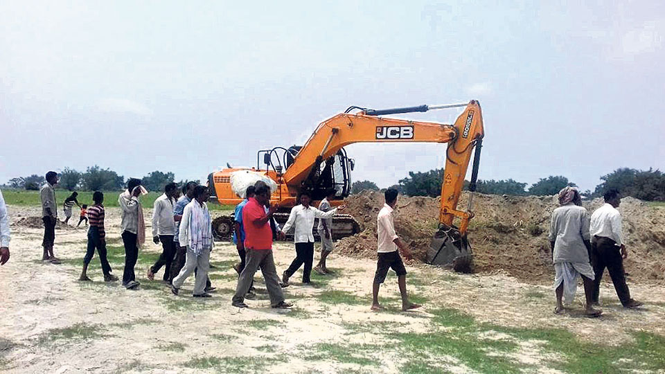 Embankment construction gathers pace as monsoon advances