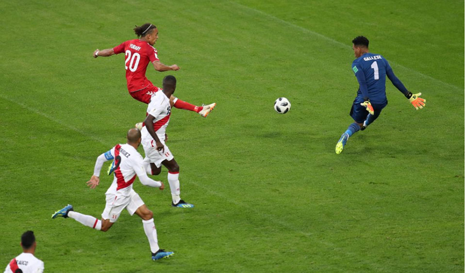 Poulsen goal powers Denmark to 1-0 win over Peru