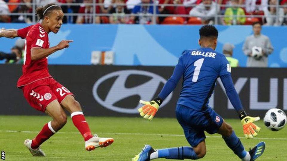 Denmark triumph over Peru
