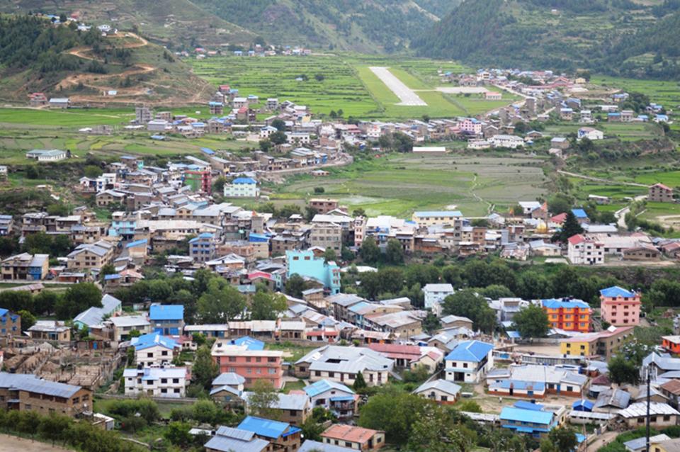 Unplanned settlements resulting in loss of arable land in Jumla