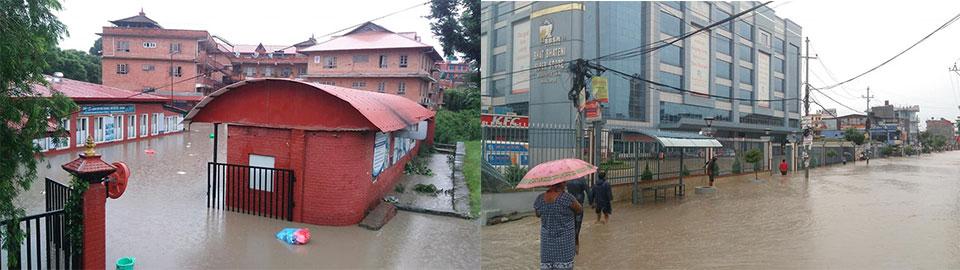 Three die as Bhaktapur and Thimi inundated