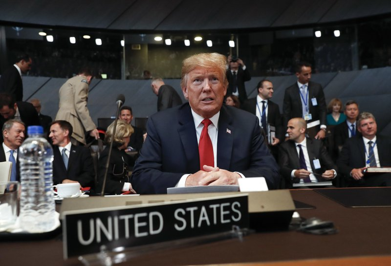 Rattling NATO, Trump attacks another nation's ties to Russia