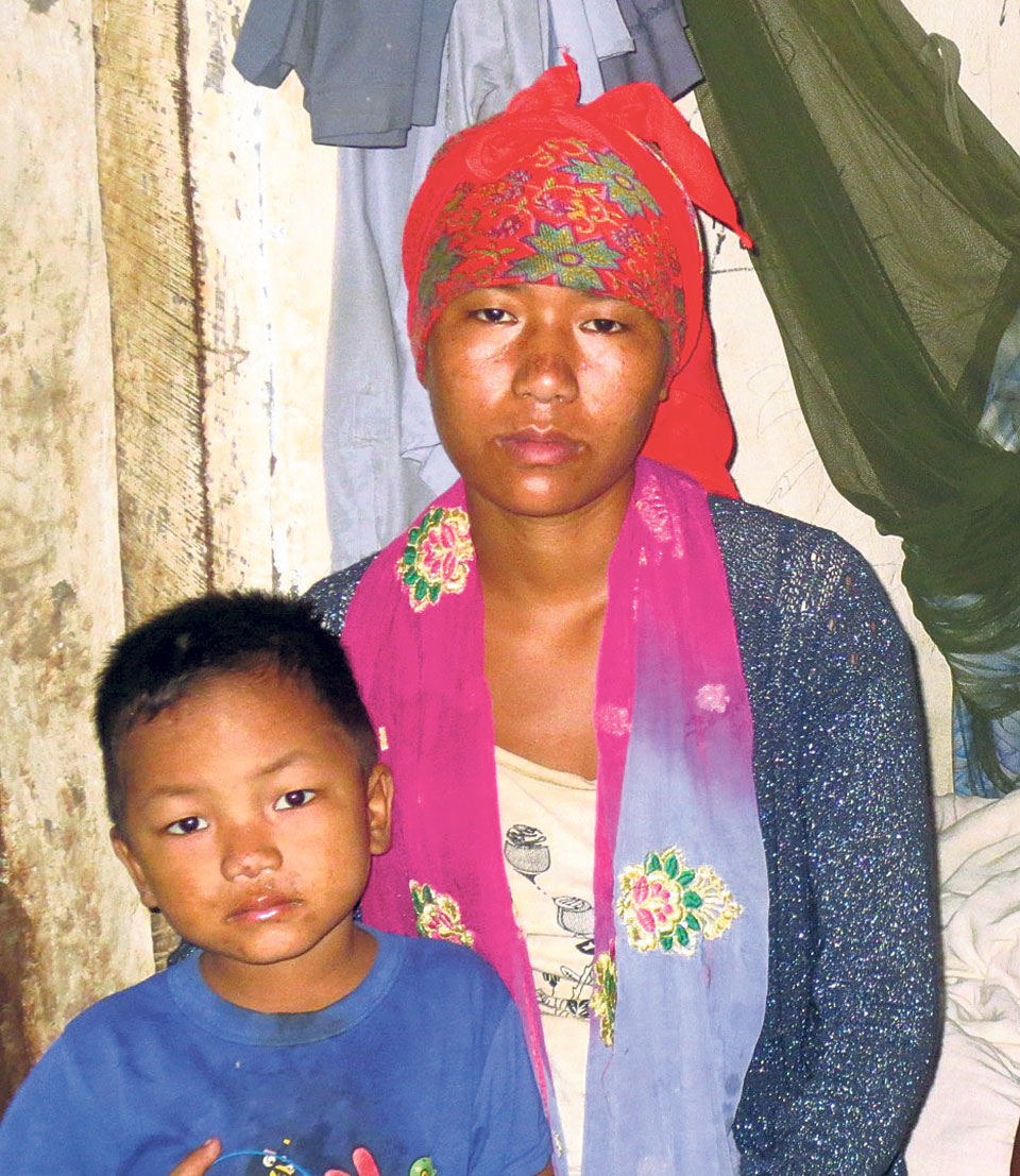 Young widow shoulders family responsibilities after husband killed in Mustang