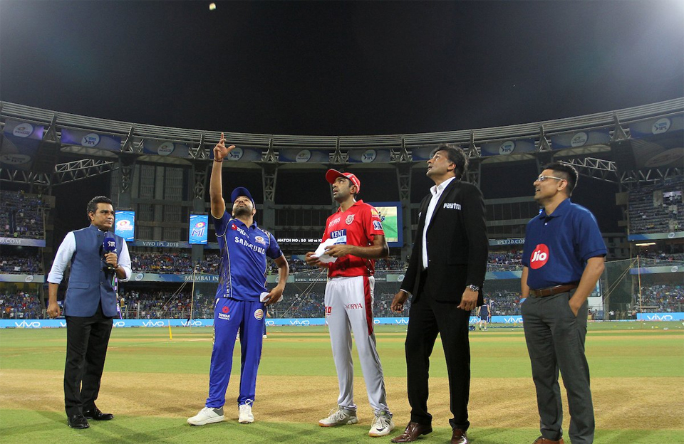 Kings XI Punjab wins toss, elected to field