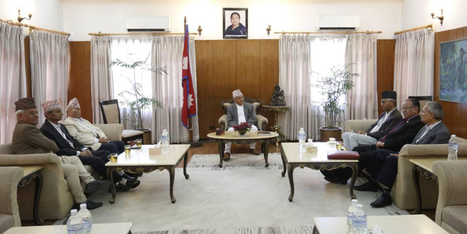 PM Oli consults with former PMs