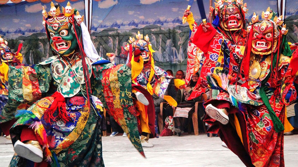 Tiji festival excitement in Lo Manthang