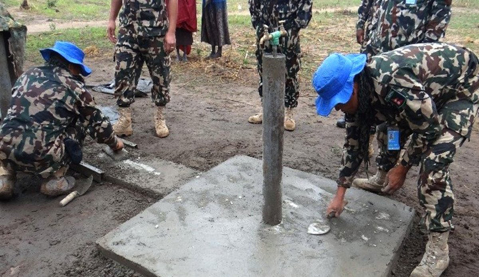 Nepali UN peacekeepers improve access to clean water for locals in South Sudan