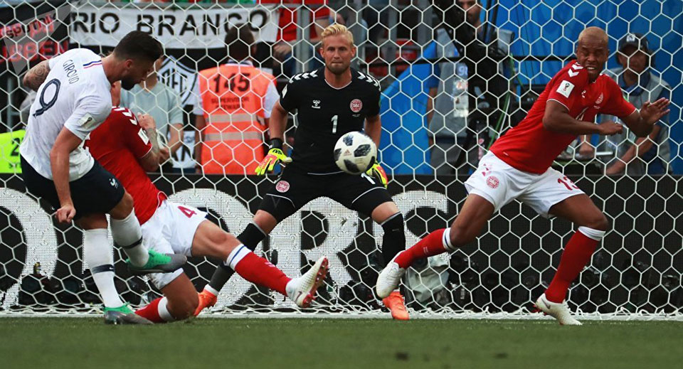 France and Denmark advance after goalless draw