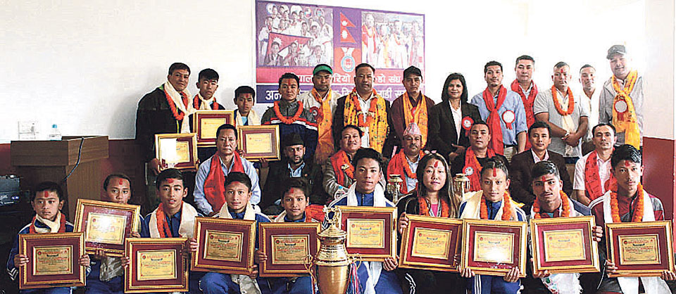 International medal winners in Karate felicitated