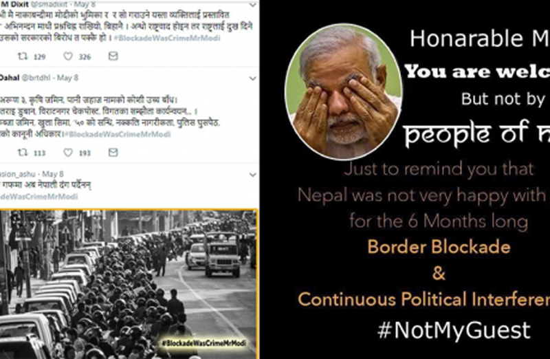 Netizens remind Modi of 2015 blockade ahead of his visit