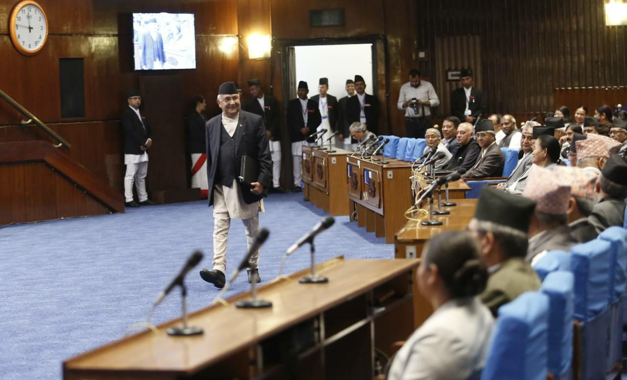 PM Oli resounds government's commitment for development
