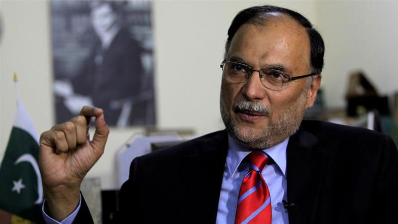Pakistan Interior Minister Ahsan Iqbal shot at election rally