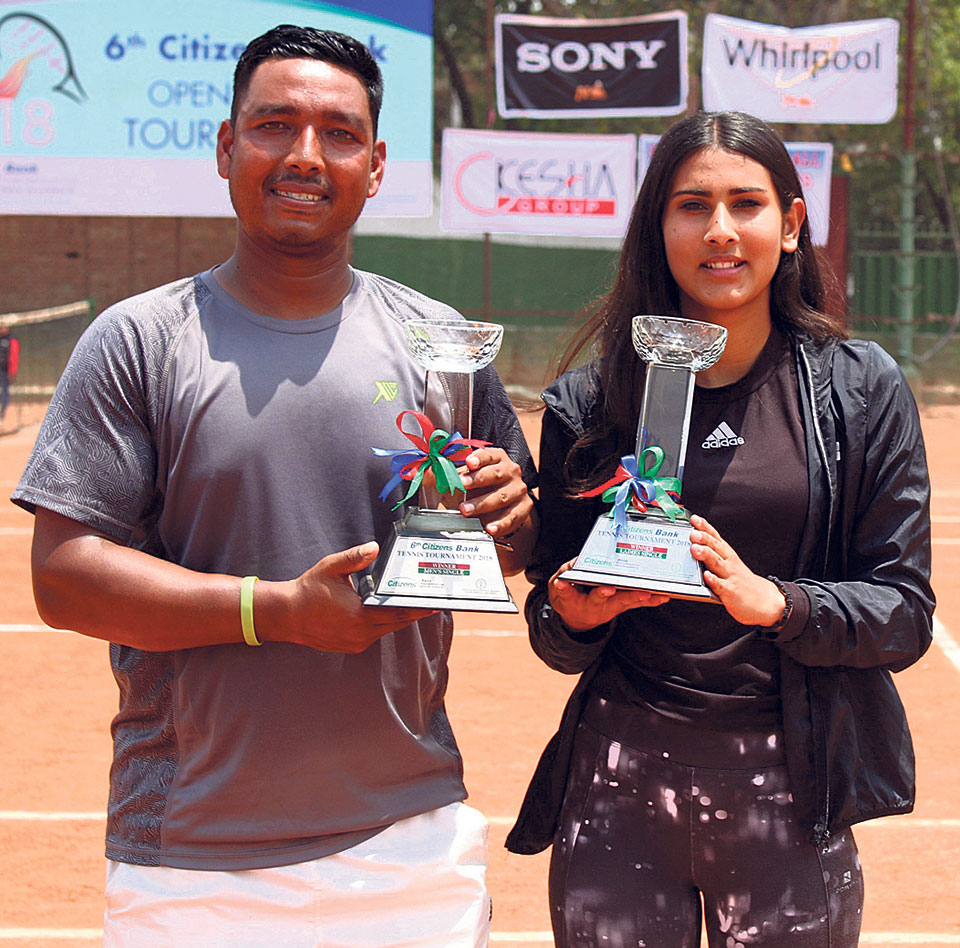 Pariyar, Koirala lift singles titles