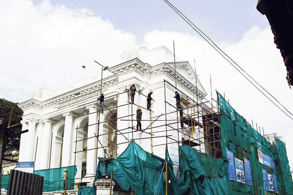 Shortage of materials, manpower affects heritage reconstruction