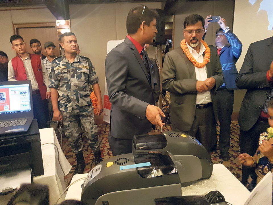 Smart card printing introduced in Nepal