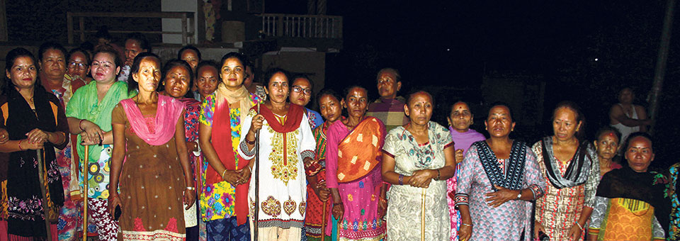 Women start patrolling at night to ensure safe neighborhood