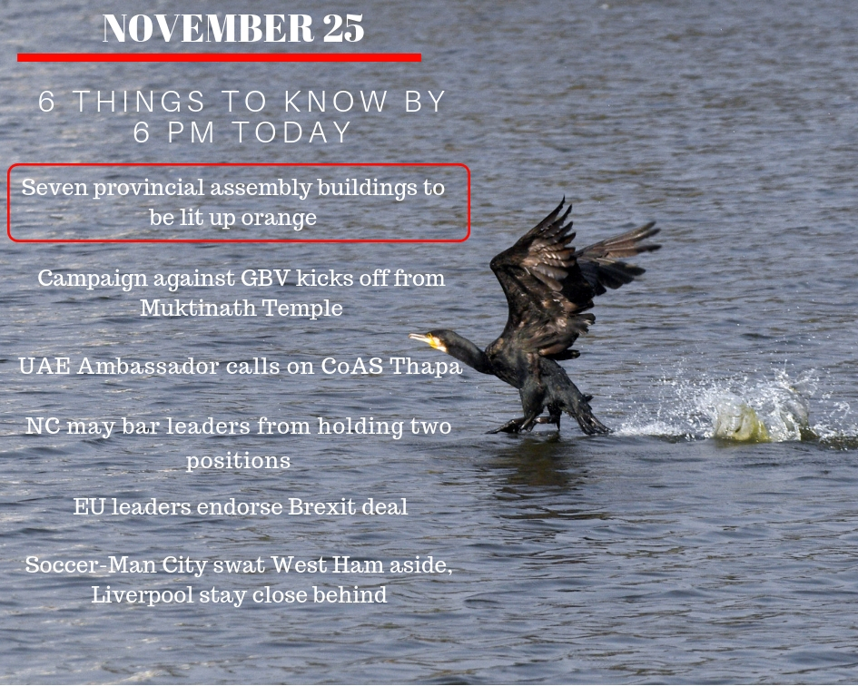 Nov 25: Six things to know by 6 PM today