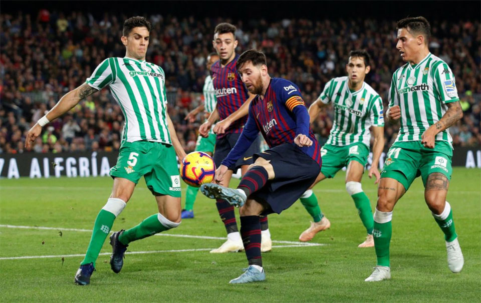 Messi returns with double but Barca lose at home to Betis
