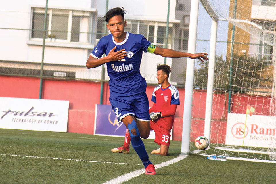 Three Star climbs top after thrashing Brigade, Police held in stalemate with Machhindra
