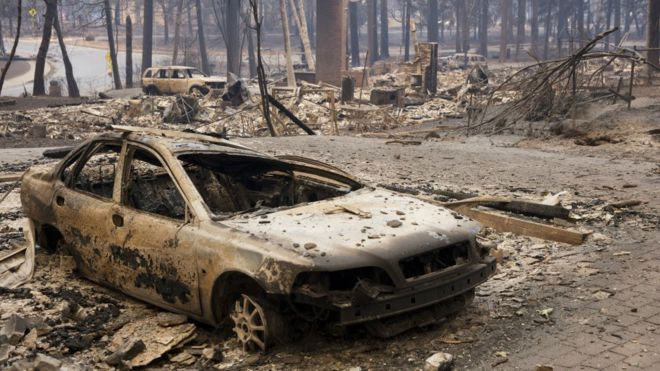 California wildfires death toll climbs to 31