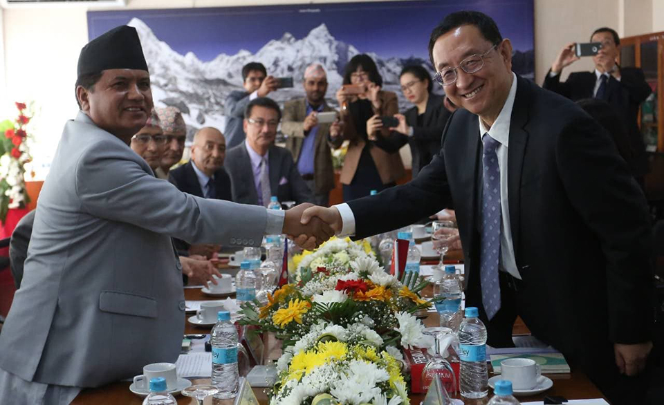 Visiting Chinese culture minister meets his Nepalese counterpart