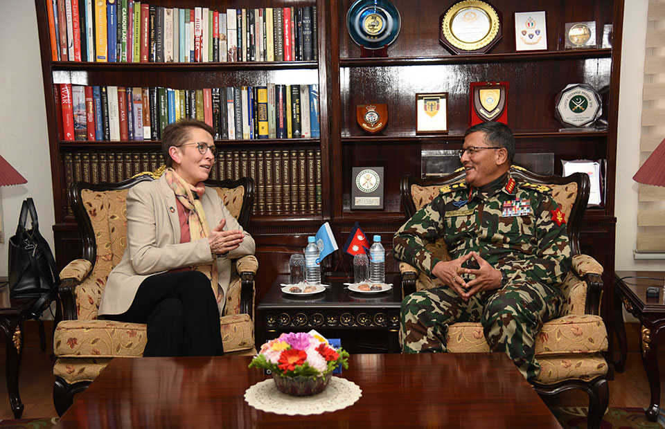 UN Resident Coordinator Julliand pays courtesy call on CoAS Thapa