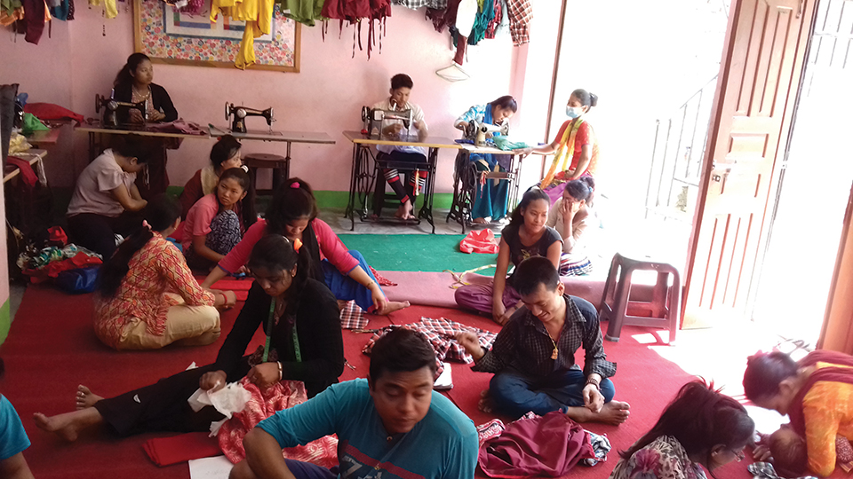 Tailoring skills empower physically-challenged women
