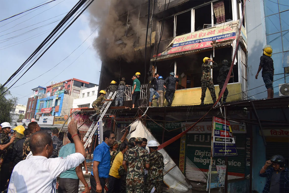 Property worth Rs 20 m destroyed as fire breaks out in Itahari