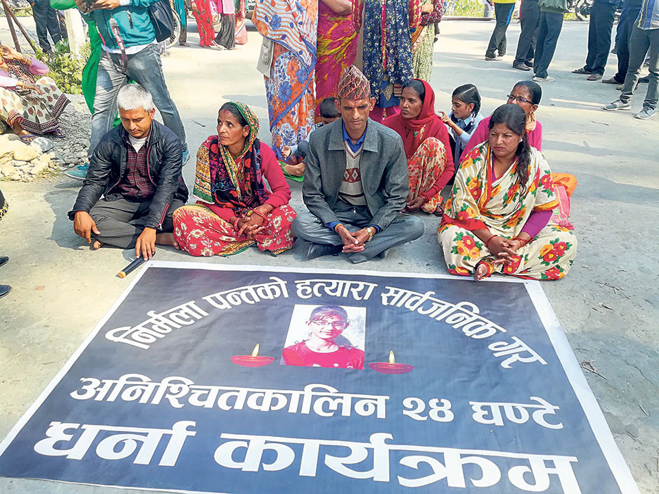 Nirmala's parents start 'indefinite' sit-in protest