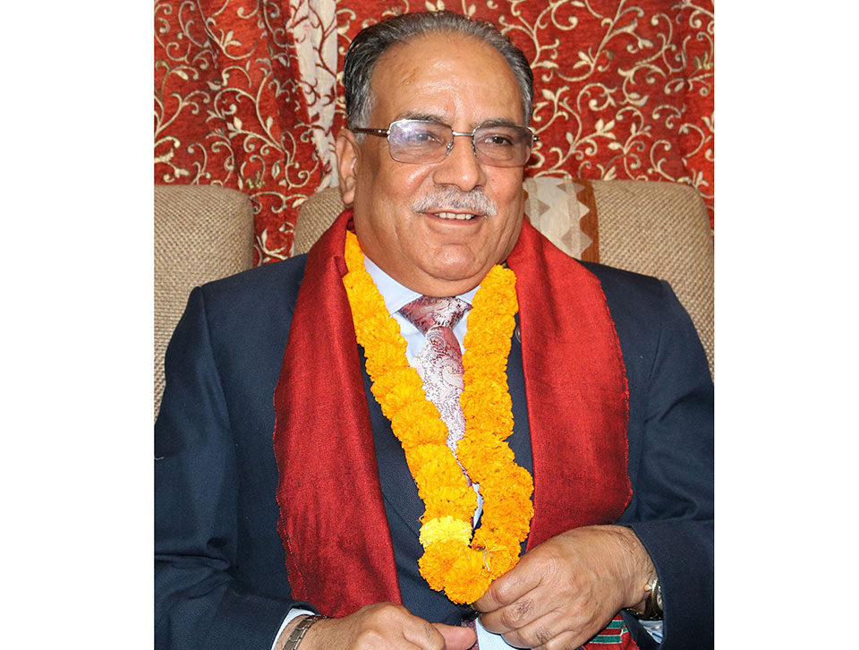 Dahal struggles to speak after remembering his dead son