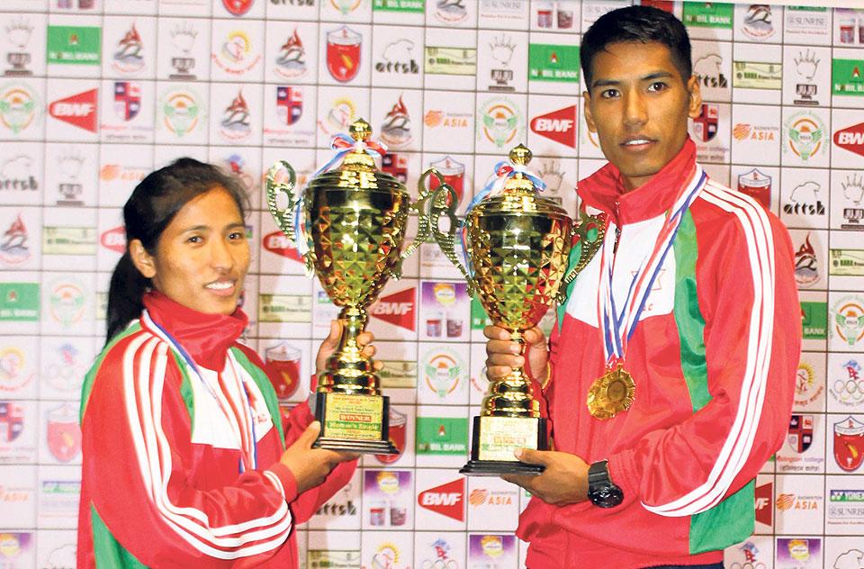Ratnajit Tamang wins Pushpalal Badminton seventh straight time