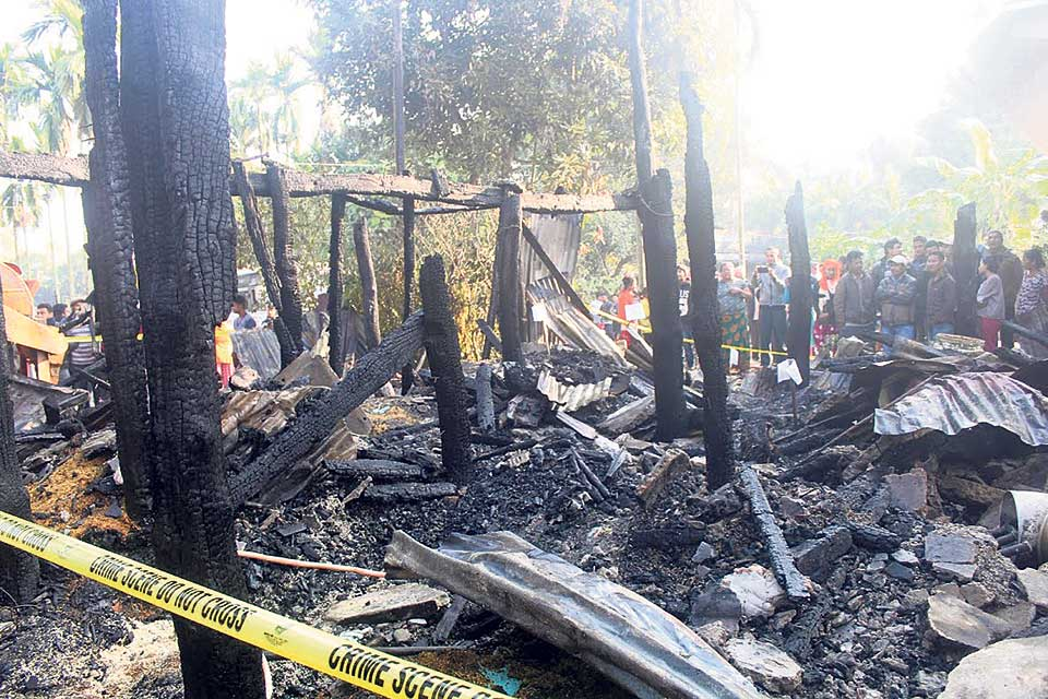 Four of same family killed in Jhapa fire