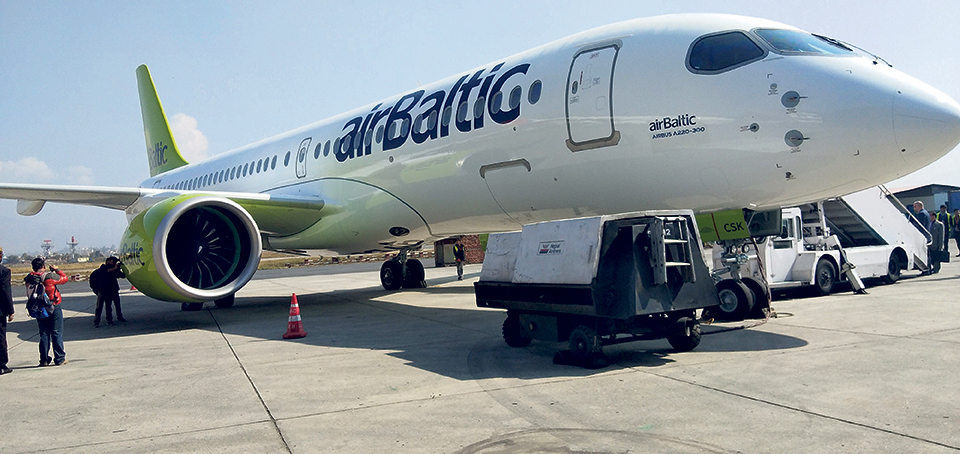 Airbus showcases A220-300 in Nepal