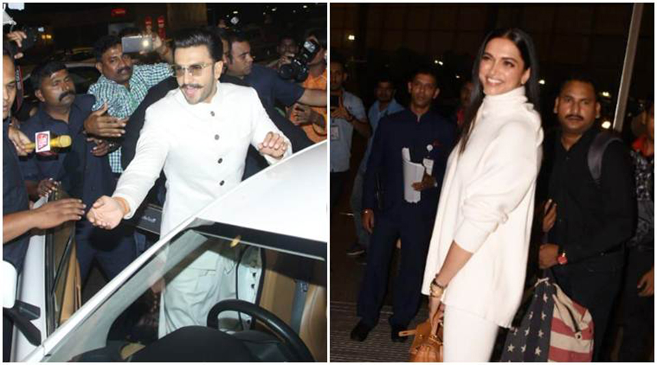 Deepika Padukone and Ranveer Singh leave for their destination wedding inItaly