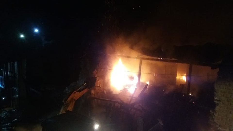 Fire guts property worth Rs 10 million in Diktel