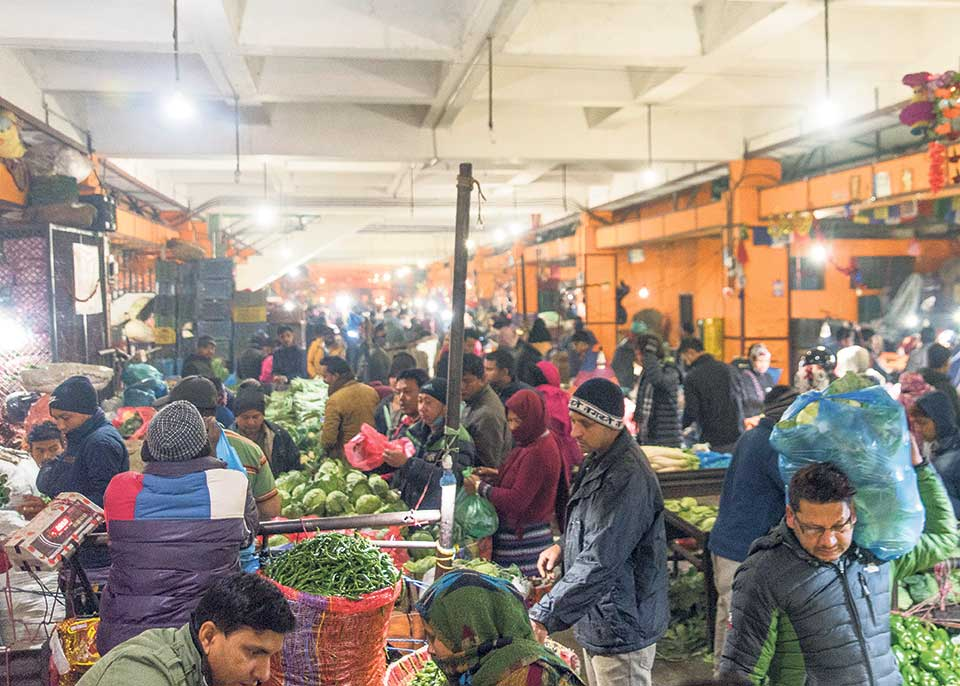 Despite ministry initiative, traders still illegally operating at Kalimati
