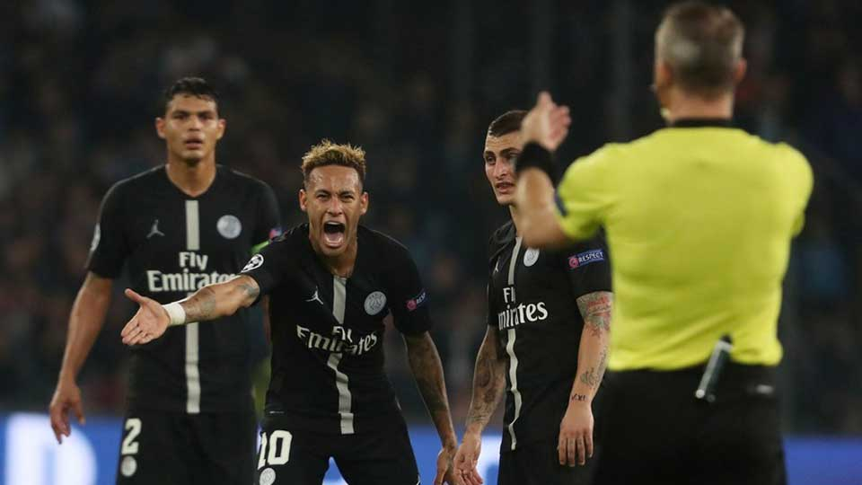 Neymar calls for action against referee who 'disrespected' him in Champions League game