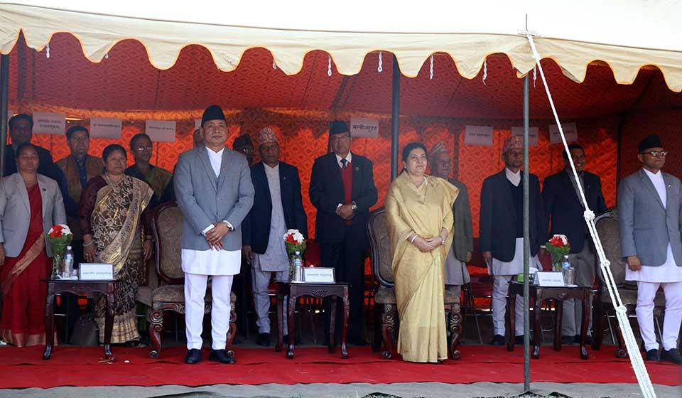 President attends tea reception