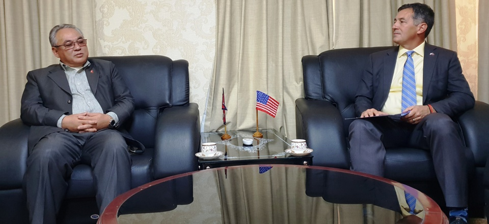 US envoy urges Home Minister Thapa to review visa fee to US tourists