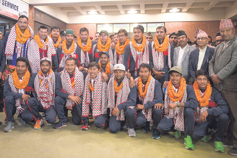 After securing ODI status in Zimbabwe, Nepali cricketers return home