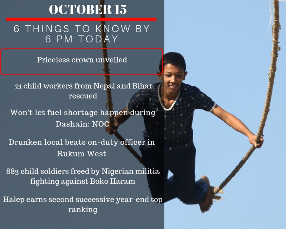 OCT 15: 6 things to know by 6 PM today