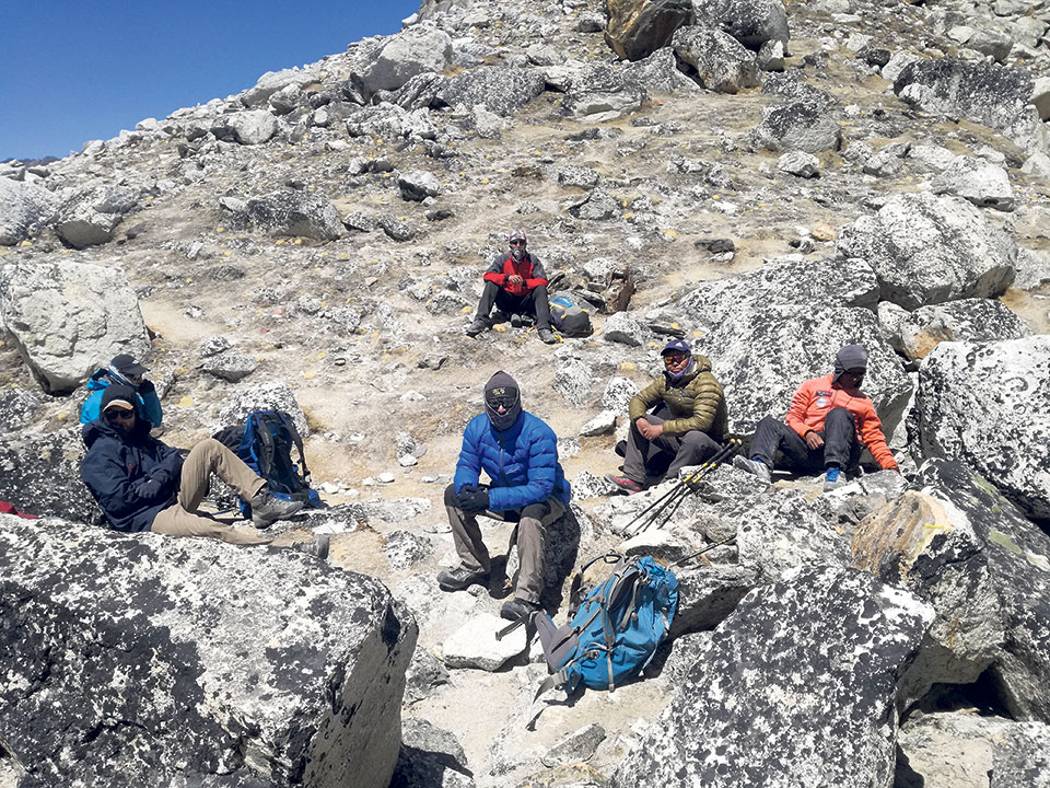 A page from my EBC trek diary