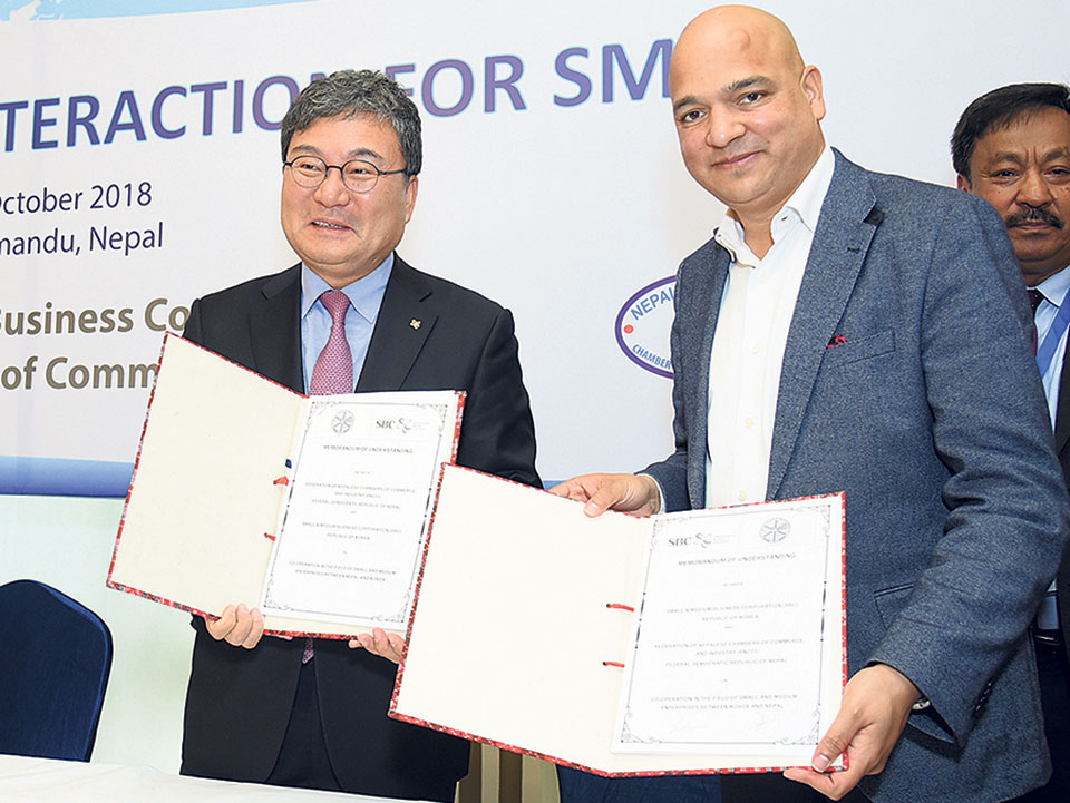 Nepali, S Korean business organizations ink MoU for SMEs development