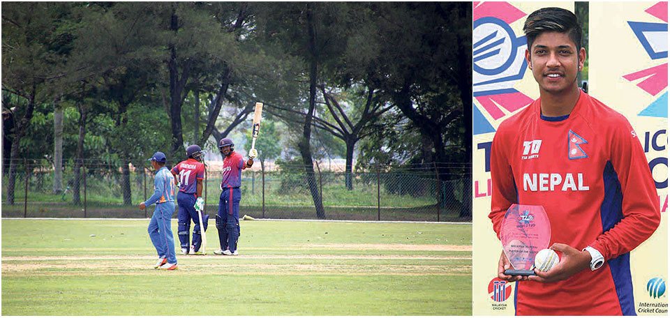 Khadka, Lamichhane propel Nepal to crushing win against Malaysia