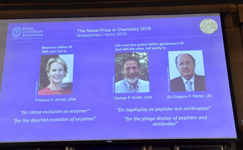 US, British scientists win Nobel Prize in chemistry