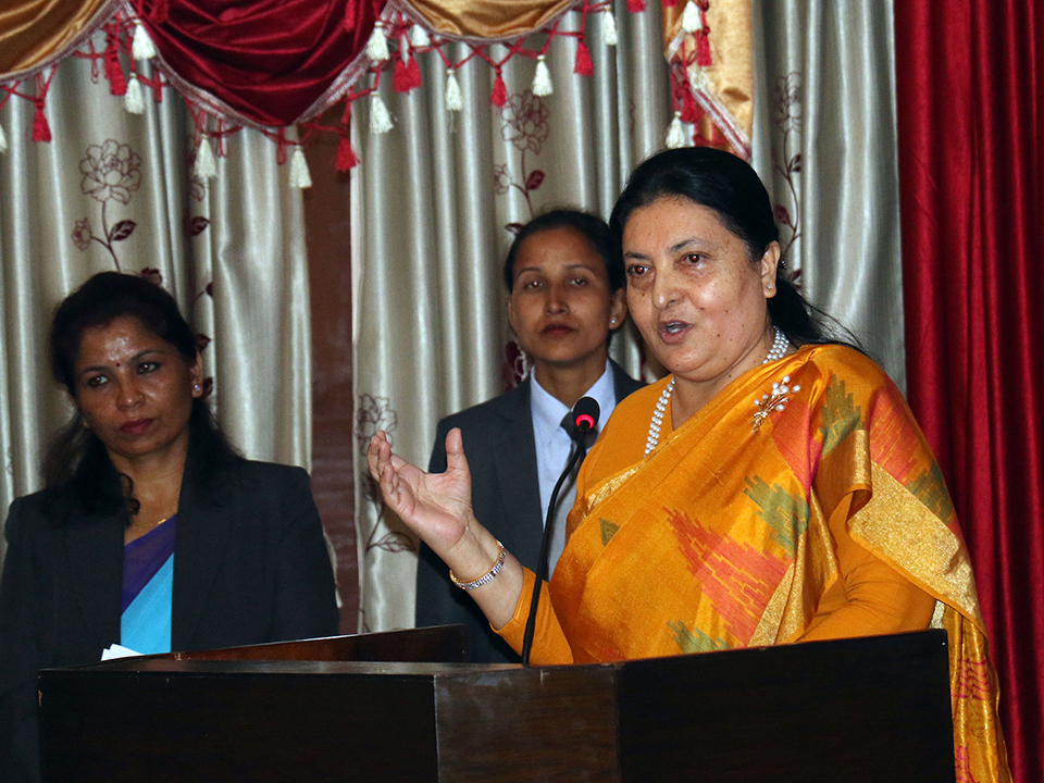 Prez Bhandari stress on utilization of senior citizens' expertise
