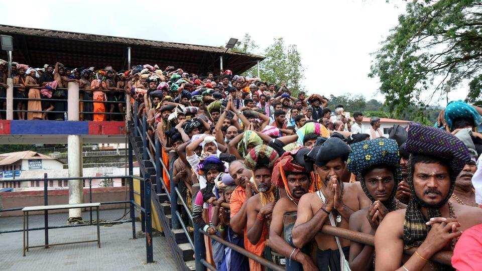 Hindu groups return to Sabarimala temple to block women from entering