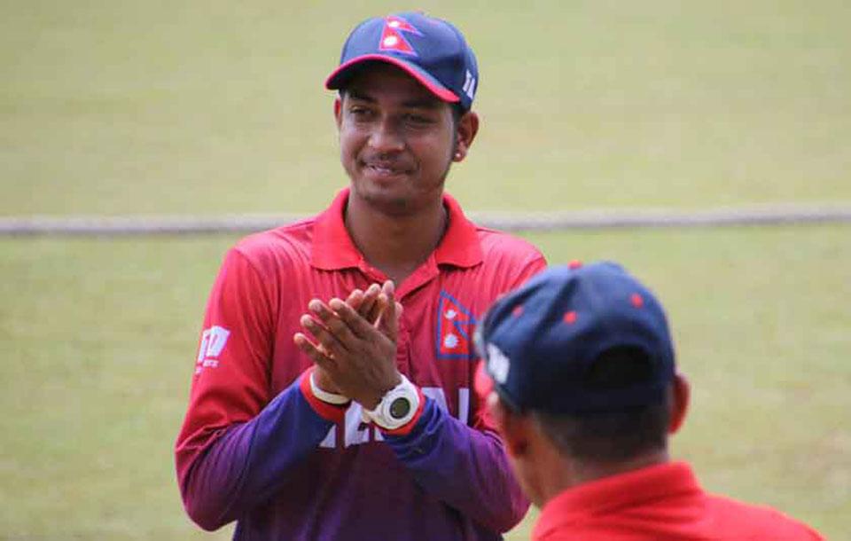 Nepal wins by 140 runs against Thailand, Karan KC shines